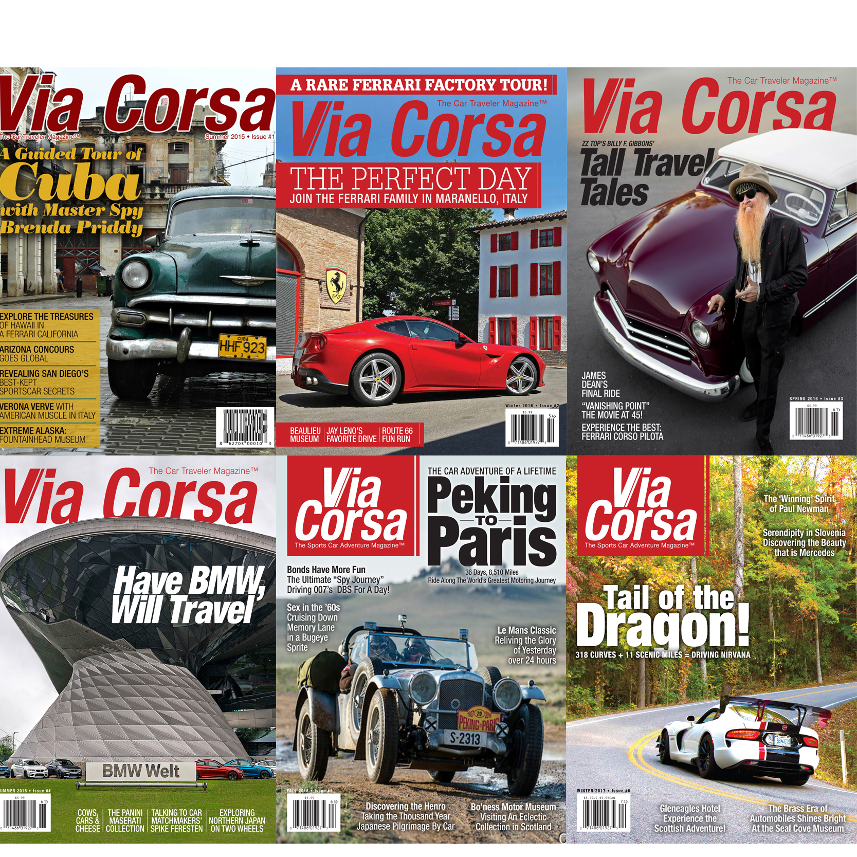 Via Corsa Magazine 2-Year Subscription - U.S. Only - Via Corsa