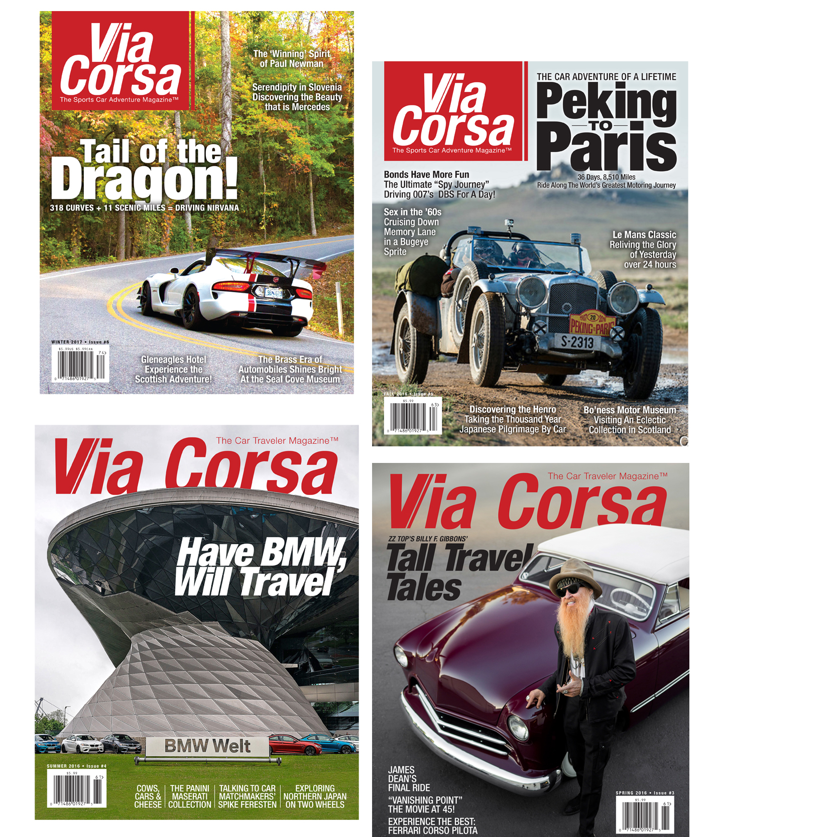 Via Corsa Magazine 1-Year Subscription - U.S. Only - Via Corsa